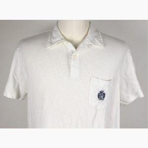 Ralph Lauren Custom Mesh Polo Shirt XL White A5-05